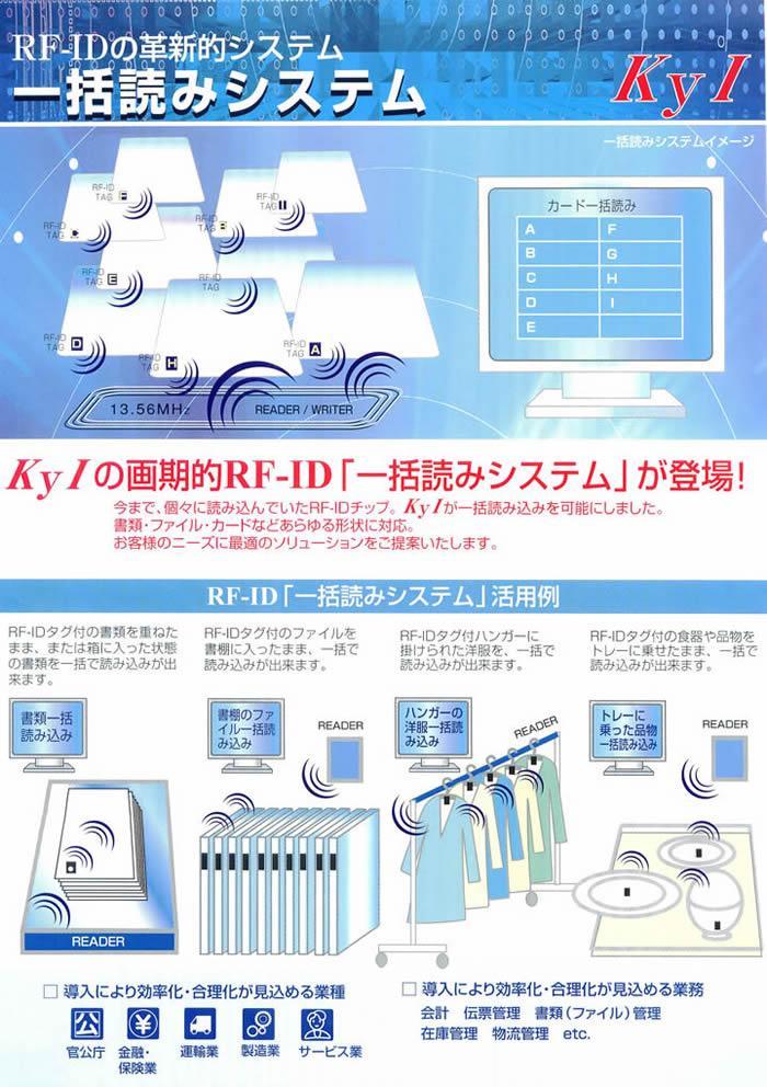 一括読込みシステム RF-IDの確信的システム